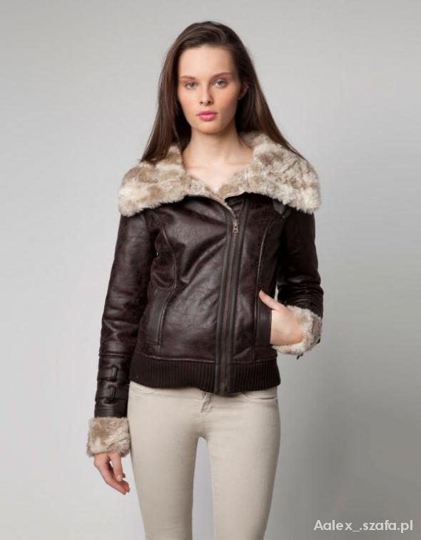 kożuch bershka kurtka zimowa