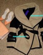 Nowy płaszcz ponczo styl Victoria Beckham