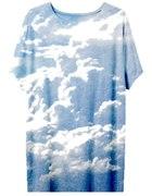 Koszulka w chmury oversize