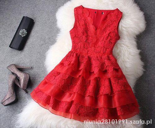 Ubrania Sukienka ostra czerwień
