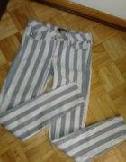 spodnie w paski river island xs