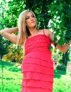 Sukienka neonowa malinowa...