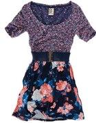 PULL&BEAR sukienka KWIATY floral Z PASKIEM