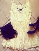 cytrynowa koronkowa sukienka new yorker nowa