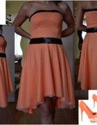 Zestaw sukienka rozkloszowana asymetryczna
