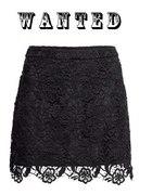 Czarna koronkowa spódnica H&M...
