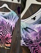 Safari koszulka z zebrą