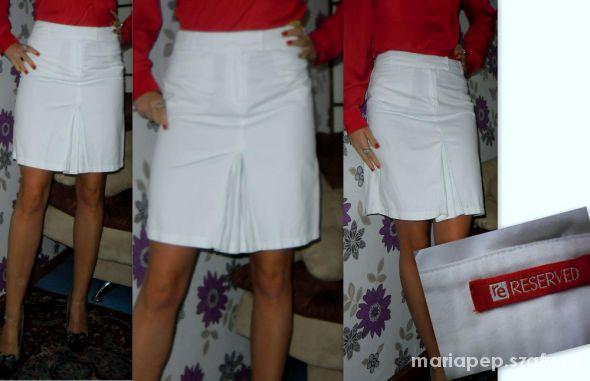 reserved modna biała spódnica r 36...