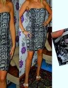 h&m modna wężowa sukienka r 40...