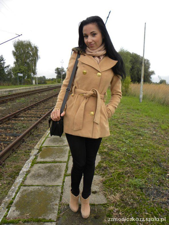 Mój styl brown coat