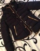 kurtka Zara z lamówkami granatowa S