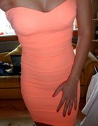 sukienka bandażowa Tally Weijl morelowa