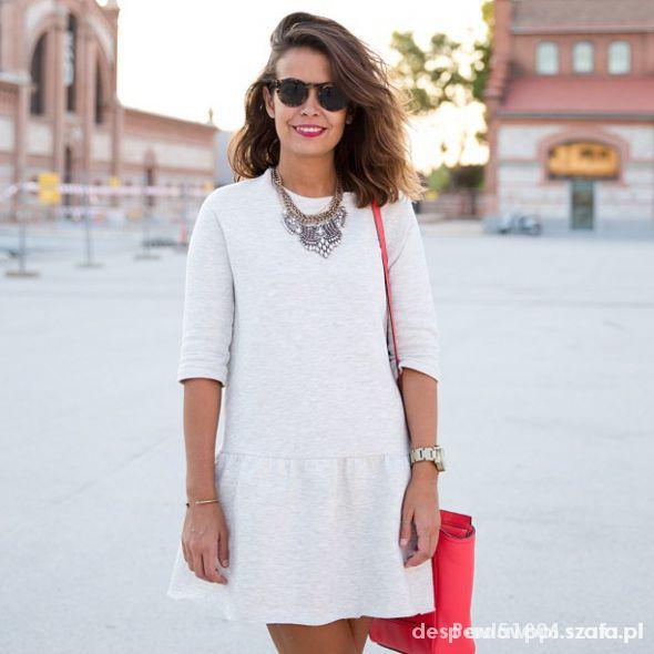 59d3c1d522 sukienka dresowa Zara w Suknie i sukienki - Szafa.pl