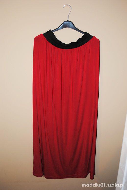 Spódnice czerwona maxi