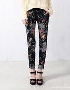Pull&bear spodnie w orientalny wzór...