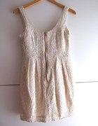 Sukienka hm Nude zip...