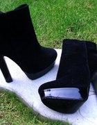 Klasyczne czarne botki...