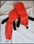Szydełkowy rudy lis pod szyję...