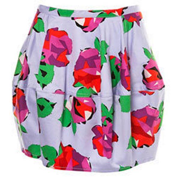Spódnice Topshop sharp roses