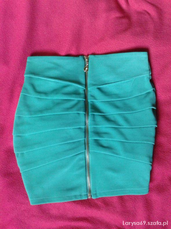 Spódnice piekna neon zip impreza