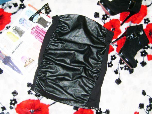 Spódnice Amisu L 40 spódniczka ekoskórka