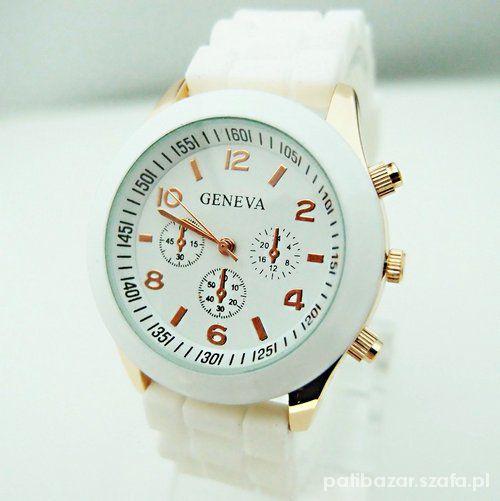 Zegarek geneva jelly watch biały