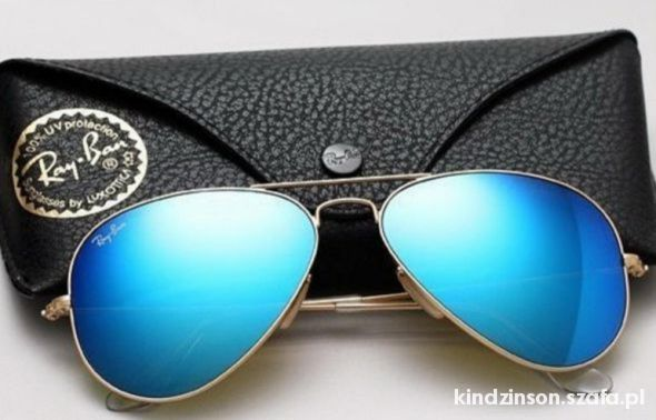 RAY BAN AVIATOR BLUE BLACK