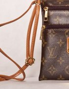 Listonoszka Louis Vuitton brązowa