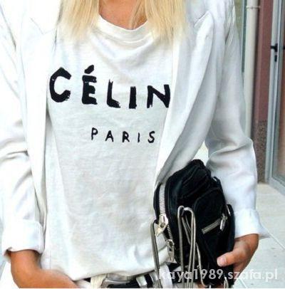 Nowe koszulki CELINE Paris NATALIA SIWIEC