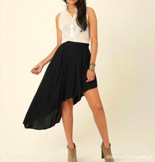 Spódnice czarna asymetryczna spódniczka 36