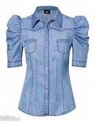 Jeansowa koszula bufki H&M SOCHA rozmia 38 M...