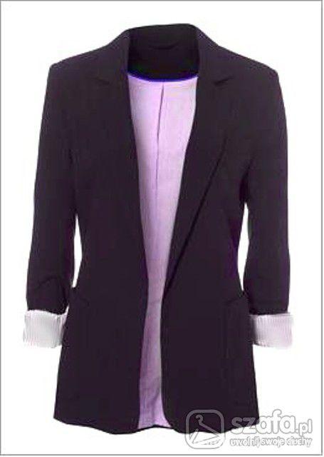 blazer czarny klasyczny L Kupie
