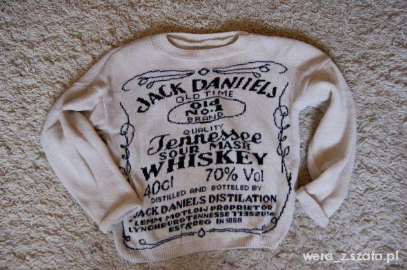 Jack Daniels sweter krótki beż