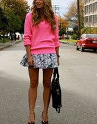 neonowy sweter oversize