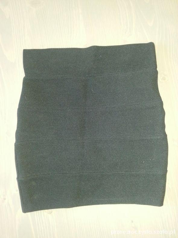 Spódnice tally weijl spódniczka mini bandażowa czarna