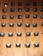 ćwieki piramidki 48 sztuk kolor grafitowy