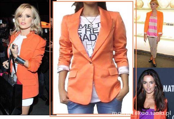 Mój styl marynarka pomarańcz