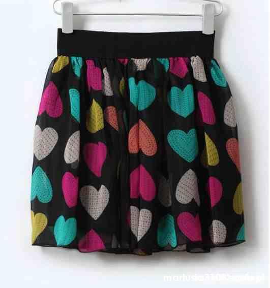 Spódnice spódnica w serca