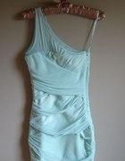 sukienka bandażowa TOPSHOP miętowa 34 xs