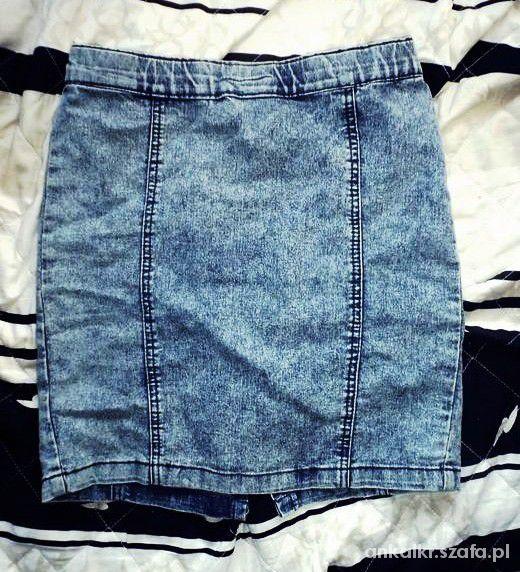 Spódnice Marmurkowa jeansowa mini