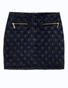 Czarna pikowana spódnica...