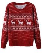 Boże Narodzenie świąteczny sweter ROMWE