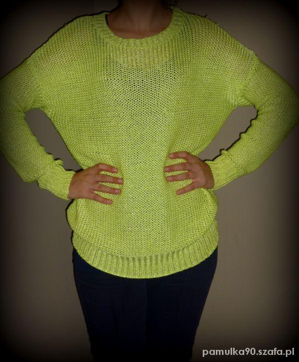 Limonkowy sweterek
