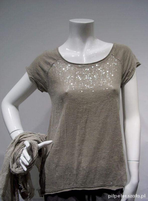 Bluzki Bluzka z cekinami siwa