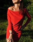 sweter włoski asymetryczny