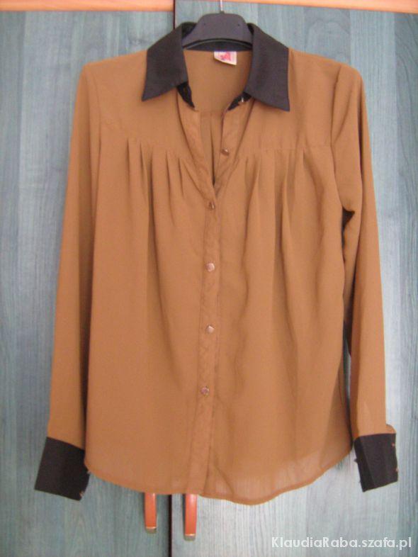 Bluzki Świetna brązowa retro bluzka L XL