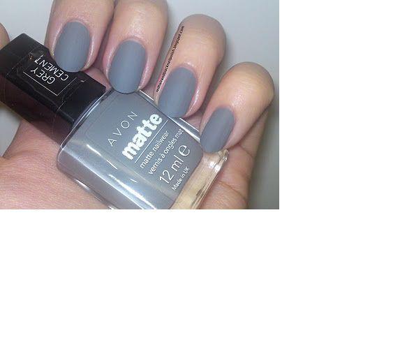 Unikalne Lakier do paznokci AVON SoMatte Grey Cement w Paznokcie - Szafa.pl JA83