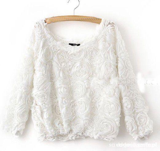 bluzka sweterek tłoczone róże