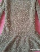 Sliczna bluzka z bukli cekiny baskinka