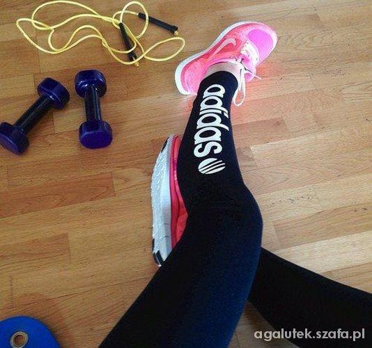 ostatnie legginsy adidas black xs